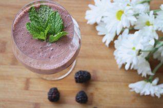 Strawberry Blackberry Sweet Potato Smoothie