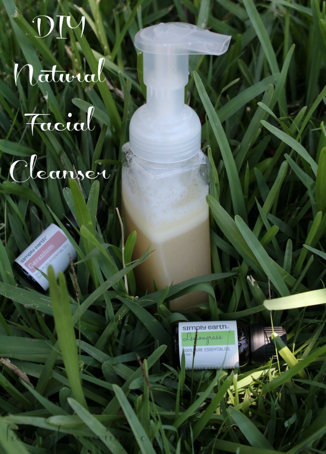 DIY Natural Facial Cleanser with essential oils