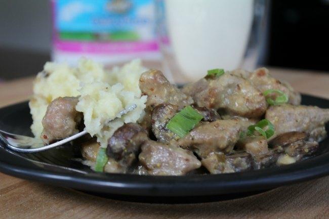 Savory Mustard Mushroom Gravy & Pork Recipe on Food Wine Sunshine