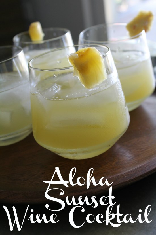 Aloha Sunset Wine Cocktail on Food Wine Sunshine