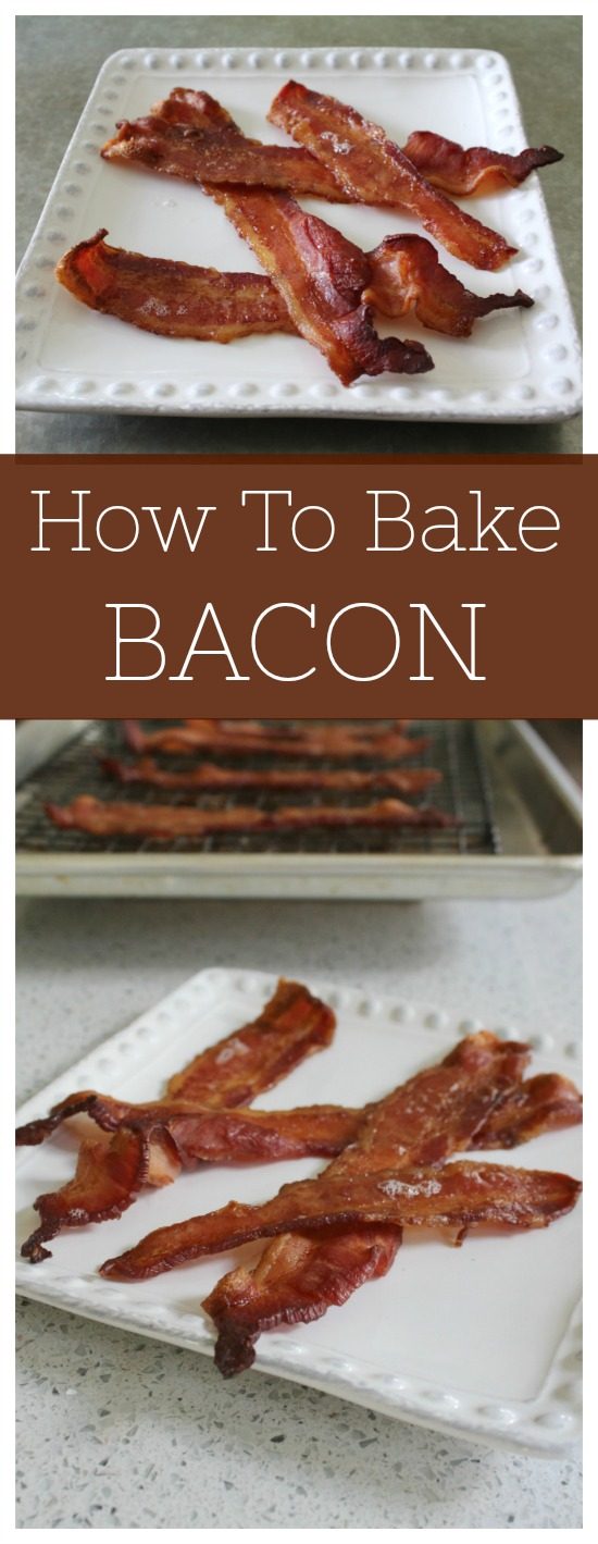 How To Bake Bacon To Crispy Perfection | Any way you cook it, bacon is amazing. But baking bacon is easier and less messy that cooking it on your cooktop. Check out how to bake bacon and never look back. Read more breakfast recipes, sweet treats and easy recipes on foodwinesunshine.com