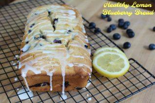 Healthy Lemon Blueberry Bread - Food Wine Sunshine