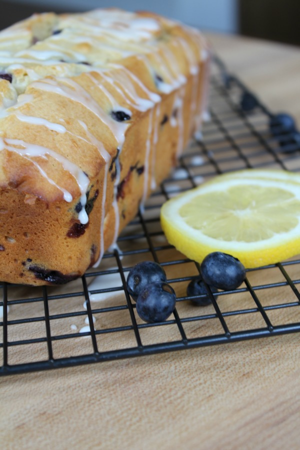 Less sugar Lemon Blueberry Bread