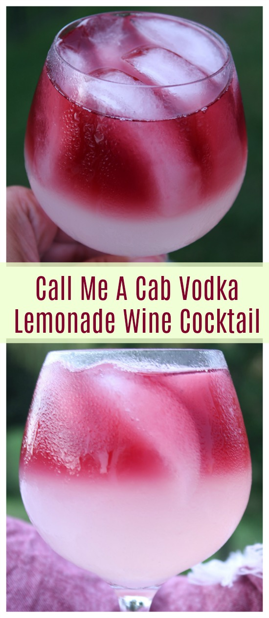 Call Me A Cab Vodka Lemonade Wine Cocktail Recipe