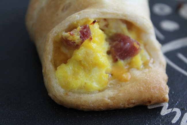 Simple Ham and Egg Crescent Rolls