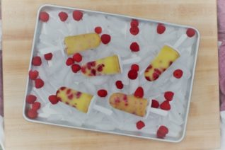 Homemade Raspberry Vanilla Pudding Pops - Food Wine Sunshine