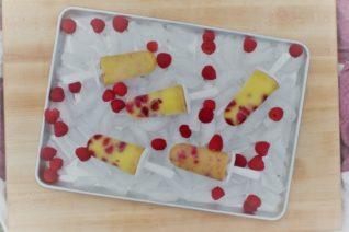 Homemade Raspberry Vanilla Pudding Pops - Food Wine Sunshine