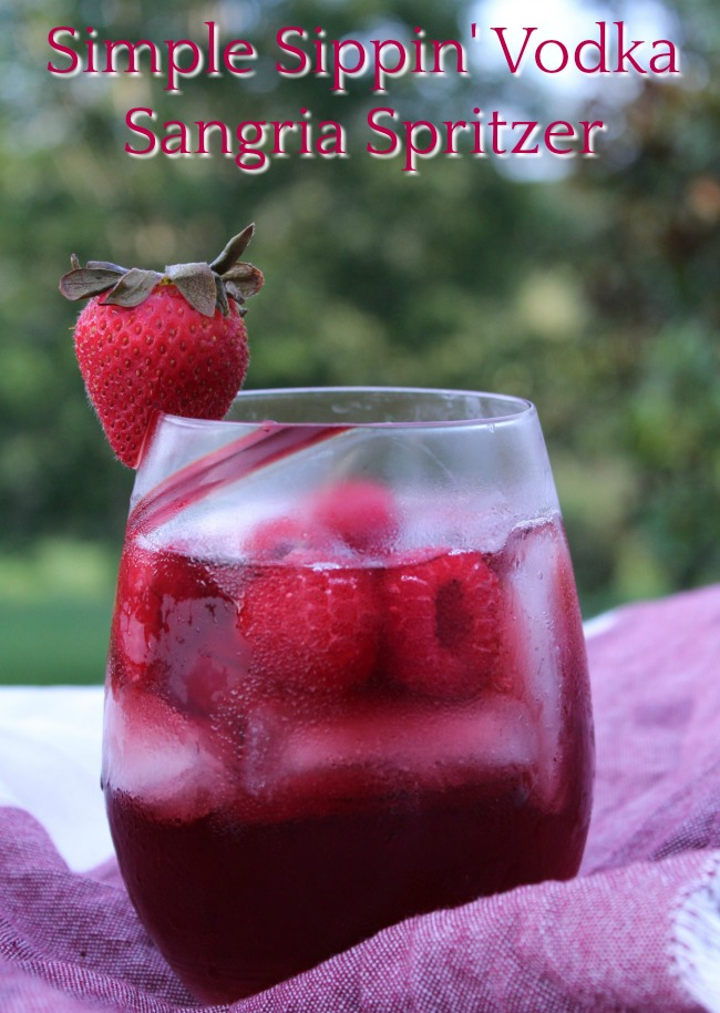 Simple Sippin' Vodka Sangria Spritzer - Food Wine Sunshine
