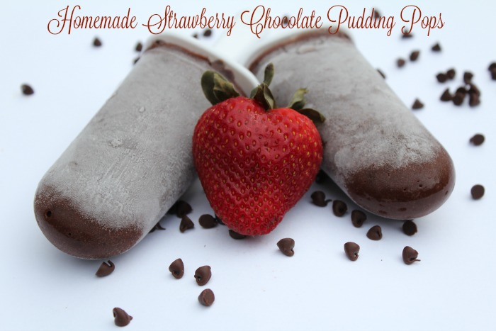 Homemade Strawberry Chocolate Pudding Pops