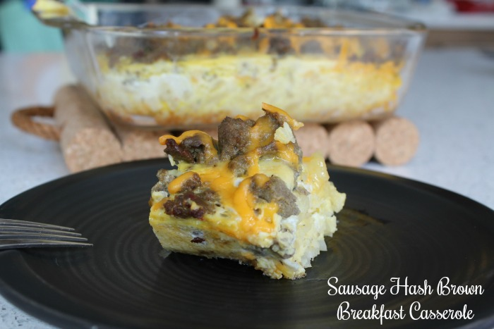Sausage and Hash Brown Breakfast Casserole