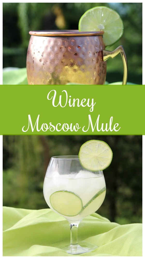 Refreshing Winey Moscow Mule Cocktail