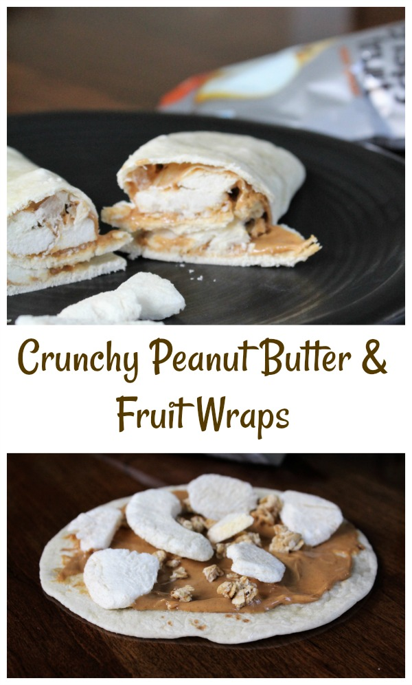 Tasty Crunchy Peanut Butter & Fruit Wraps