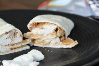 Crunchy Peanut Butter & Fruit Wraps - Food Wine Sunshine