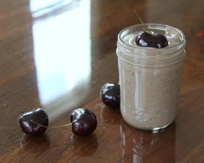 Cherry Green Protein Smoothie - Food Wine Sunshine
