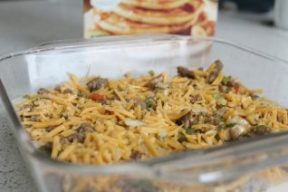 Easy Vegetable and Sausage Pancake Casserole on Food Wine Sunshine