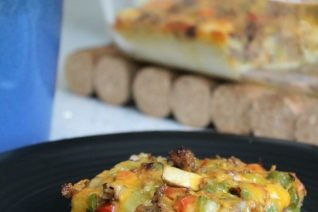 Easy Vegetable and Sausage Pancake Casserole - Food Wine Sunshine