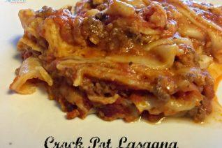Easy Crock Pot Lasagna Recipe Featured on Food Wine Sunshine