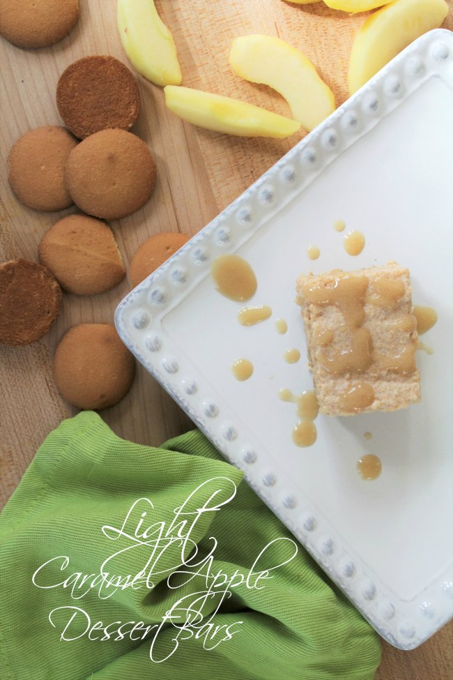 Light Caramel Apple Dessert Bars | Looking for a healthy and delicious dessert to celebrate all the flavors of fall? This Light Caramel Apple Dessert Bars recipe is it. Read more dessert recipes, sweet treats, healthy recipes and easy recipes on foodwinesunshine.com