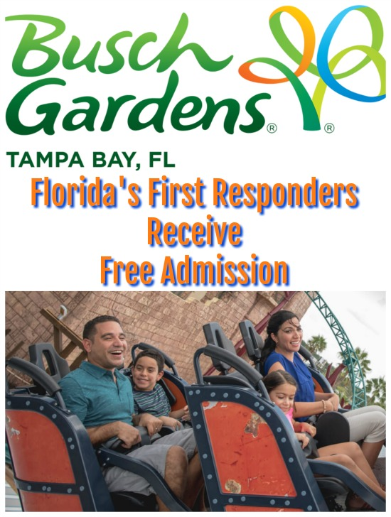 Florida's First Responders Free Admission at Busch Gardens Tampa