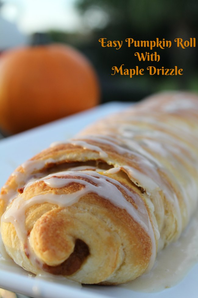 Easy Pumpkin Roll With Maple Drizzle
