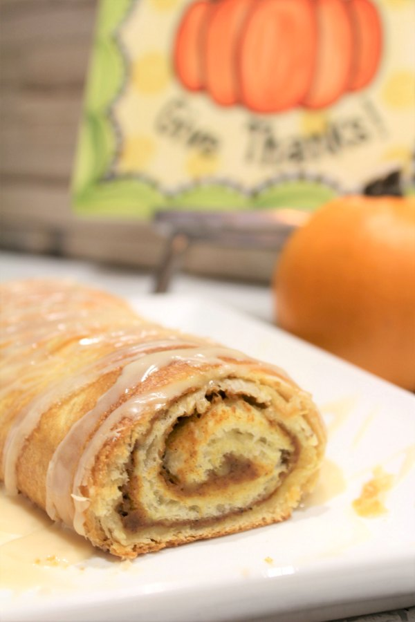 Best Pumpkin Roll With Maple Drizzle