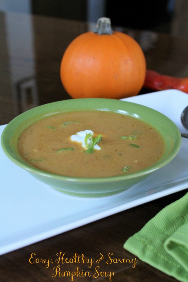 Easy, Healthy & Savory Pumpkin Soup Recipe - Food Wine Sunshine