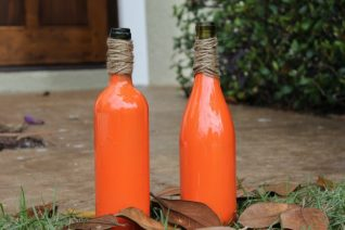 How To Make Easy DIY Wine Bottle Pumpkins - Food Wine Sunshine