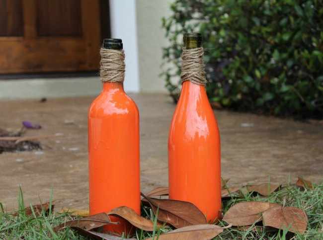 How To Make Easy DIY Wine Bottle Pumpkins - Food Wine Sunshine