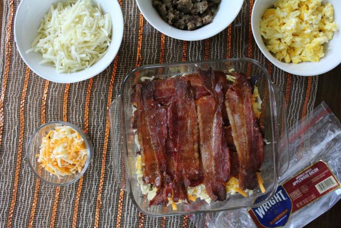 Breakfast Lasagna with bacon