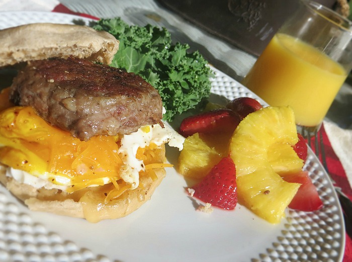 Homemade sausage breakfast sandwiches