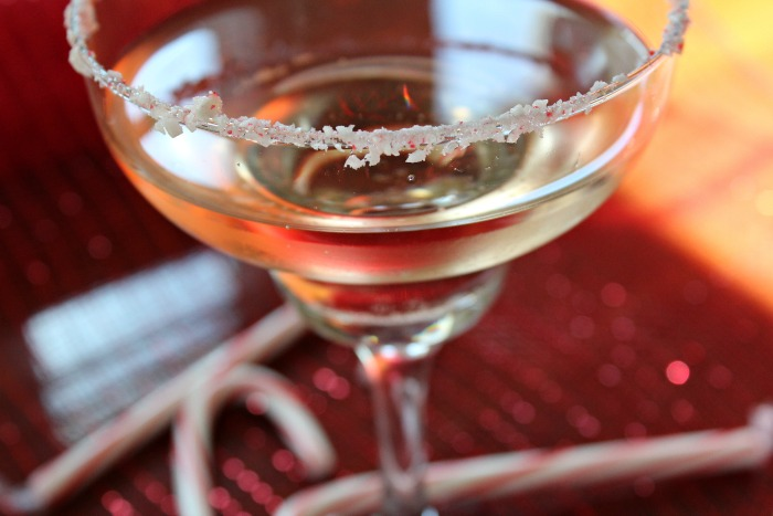 I'm Dreaming Of A Peppermint Twistmas - Champagne Cocktail on Food Wine Sunshine