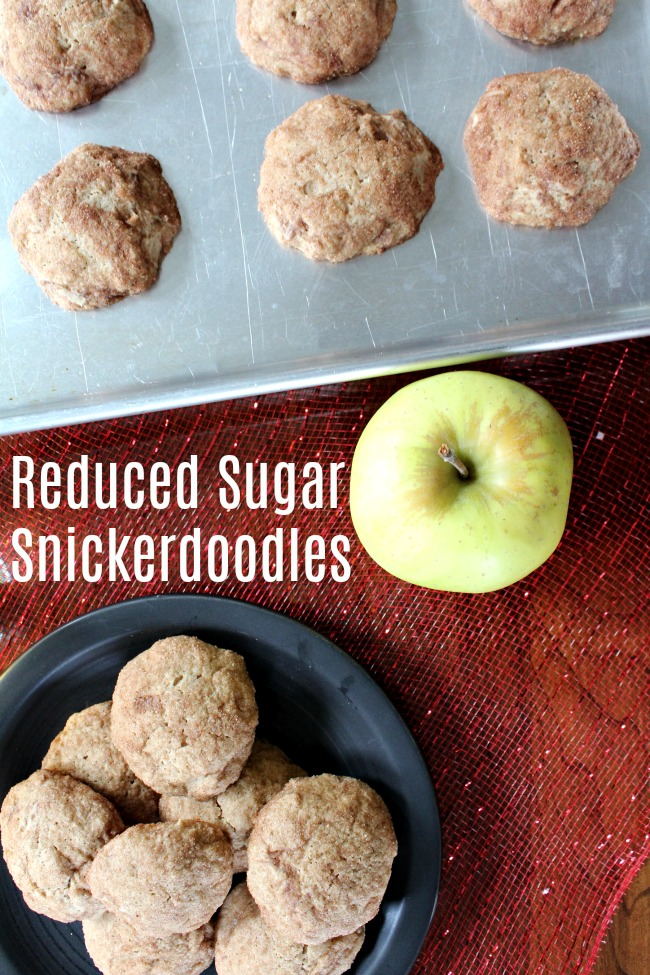 Reduced Sugar Snickerdoodles