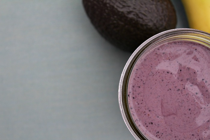 Blueberry Avocado Smoothie - Food Wine Sunshine