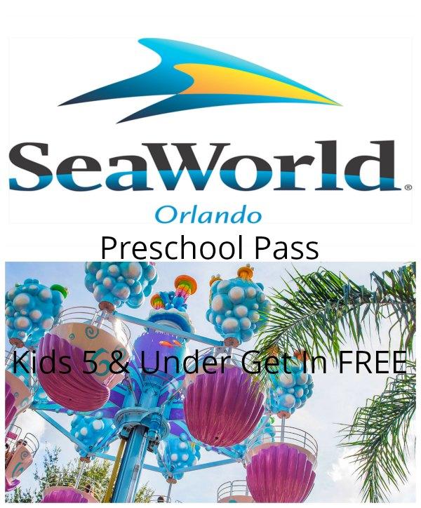 SeaWorld Preschool Card - Kids 5 and Under Go Free - Food Wine Sunshine