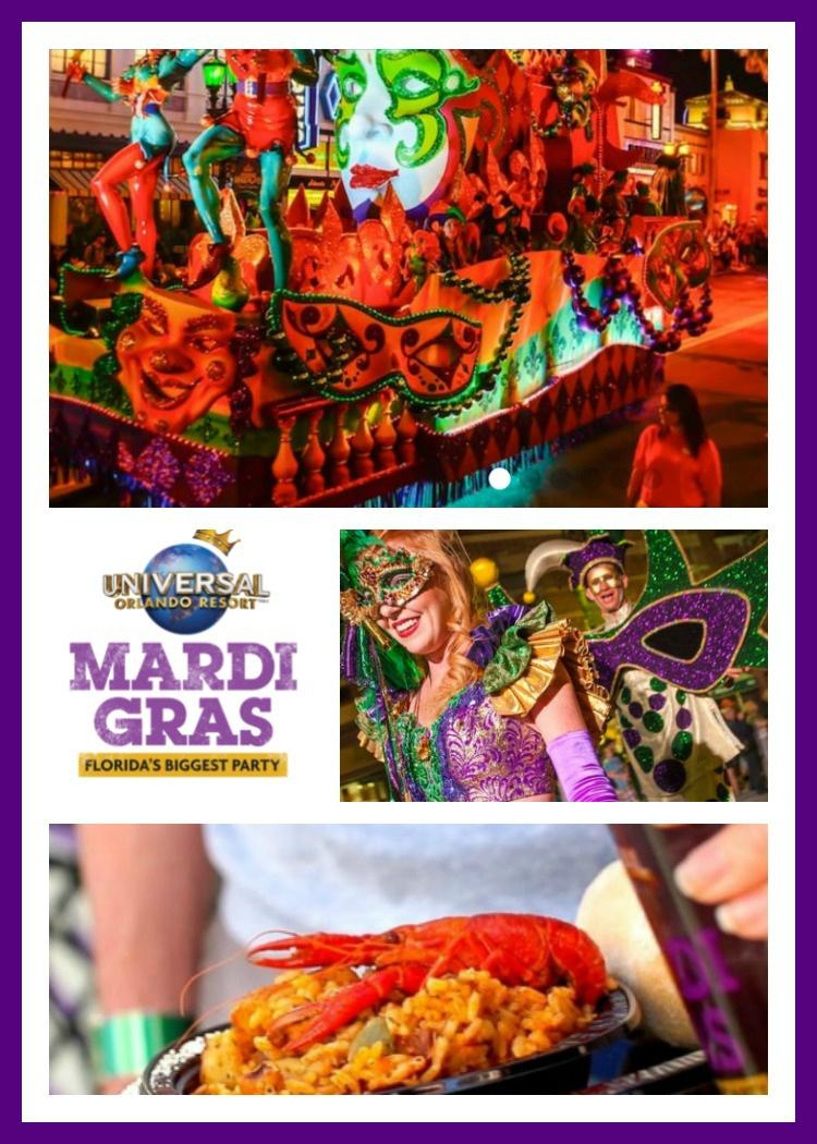 Universal Orlando Mardi Gras Information