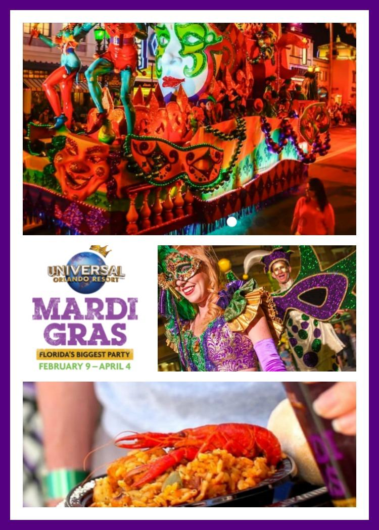 Universal Orlando Mardi Gras Info