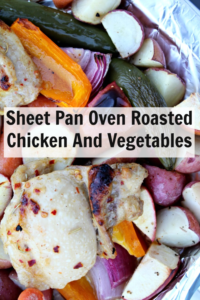 Sheet Pan Oven Roasted Chicken And Vegetables- Food Wine Sunshine