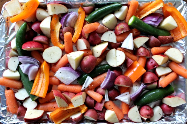 Easy Sheet Pan Oven Roasted Chicken And Vegetables
