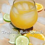 Tropical Rum Splash Cocktail