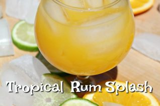 Tropical Rum Splash Cocktail
