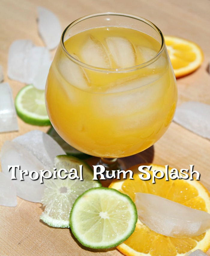 Refreshing Tropical Rum Splash Cocktail