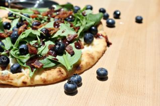 Bacon and Blueberry Pizza
