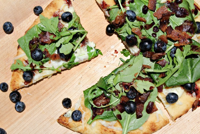 Delicious Bacon and Blueberry Pizza