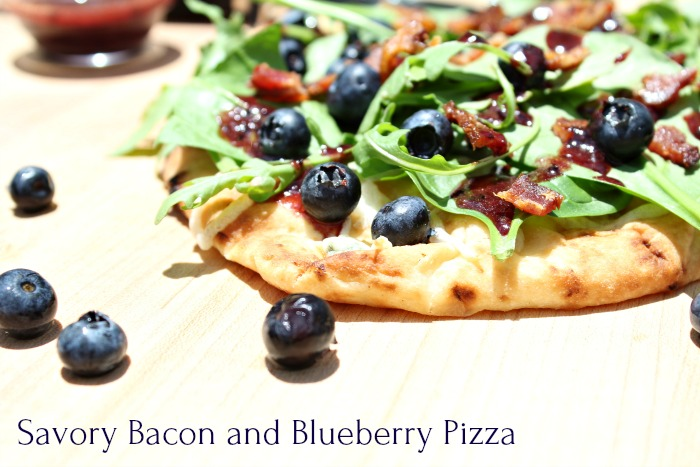 Savory Bacon and Blueberry Pizza