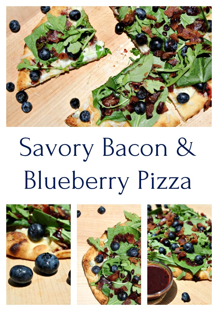 Bacon and Blueberry Pizza With Blueberry Balsamic Drizzle