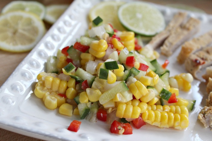 Tasty fresh corn salad
