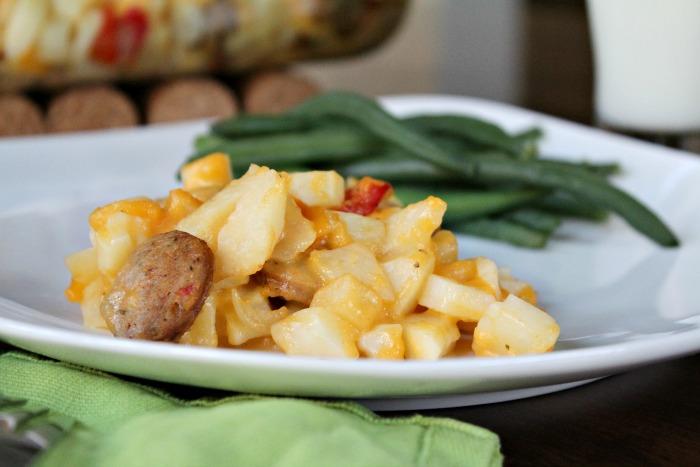 Chicken Sausage and Potato Casserole