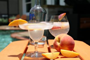 Sparkling Peachade Vodka Cocktail-image