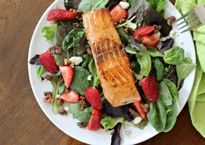 Healthy Strawberry Salmon Salad