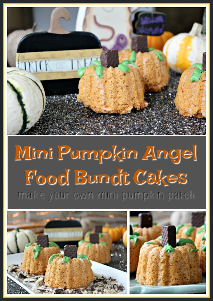 Fall Mini Pumpkin Bundt Cakes
